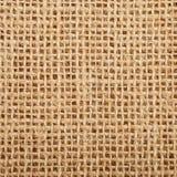 Textura del saco de la arpillera de Brown Foto de archivo