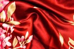 Textura del satén de la tela foto de archivo libre de regalías