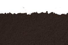 Textura del suelo aislada en el fondo blanco Imagen de archivo libre de regalías