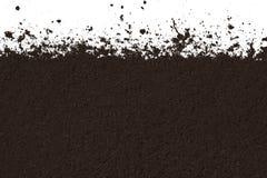 Textura del suelo aislada en el fondo blanco Fotografía de archivo libre de regalías