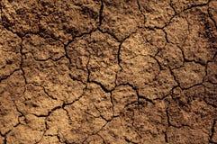 Textura del suelo seco Fotos de archivo