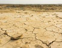 Textura del suelo seco Foto de archivo libre de regalías