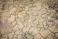 Textura del suelo seco Imágenes de archivo libres de regalías