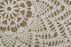 Textura del tapetito del ganchillo Fotos de archivo libres de regalías