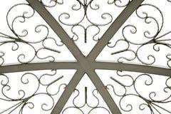 Textura del tejado de la bóveda en blanco aislado Imagen de archivo