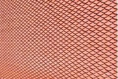 Textura del tejado de la baldosa cerámica de Brown para el fondo Imagen de archivo libre de regalías