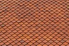 Textura del tejado de teja Imagen de archivo