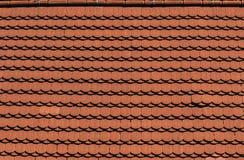 Textura del tejado de tejas del ladrillo Fotografía de archivo libre de regalías