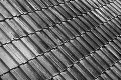 Textura del tejado en B&W fotos de archivo