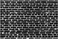 Textura del vector de la pared de ladrillo vieja negra libre illustration