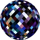 textura del vidrio de la esfera 3d Bola que destella de la violeta púrpura azul marino ilustración del vector