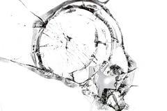 Textura del vidrio quebrado Imágenes de archivo libres de regalías