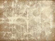 Textura descolorada de Paisley de la lona stock de ilustración