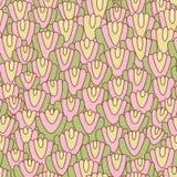 Textura desenhado à mão abstrata sem emenda. Fotos de Stock Royalty Free