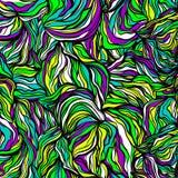 Textura desenhado à mão multicolorido abstrata das ondas, fundo ondulado Ilustração do vetor Imagens de Stock