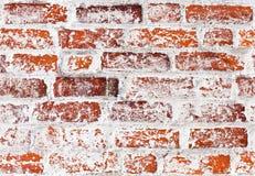 Textura detalhada da parede de tijolo do vintage fotografia de stock