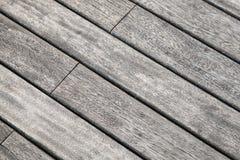 Textura detalhada do fundo da tabela de madeira cinzenta Imagens de Stock Royalty Free