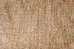 Textura detallada de la arpillera arrugada Imagenes de archivo