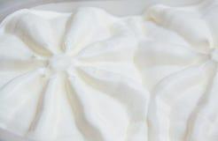 Textura detallada macra del helado de vainilla Foto de archivo libre de regalías