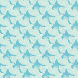 Textura diagonal azul dos pássaros de voo do vetor sem emenda Foto de Stock