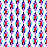 Textura diagonal colorida geométrica com rombos Motivo tradicional, teste padrão do argyle ilustração do vetor