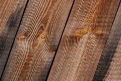 Textura diagonal de madeira Fotografia de Stock
