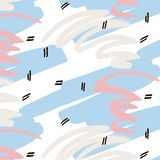 Textura dibujada mano contemporánea creativa de lujo del vector Tarjetas de Memphis del inconformista Los años noventa de la text Foto de archivo libre de regalías