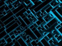 Textura digital de neón negra abstracta del fondo 3d Foto de archivo