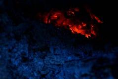 Textura do ângulo do fogo e das cinzas Imagens de Stock Royalty Free