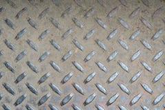 Textura do aço do teste padrão do diamante Fotografia de Stock Royalty Free