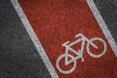 Textura do asfalto da pista da bicicleta Imagens de Stock Royalty Free