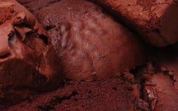 Textura do bolo de chocolate Fotos de Stock