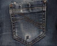 Textura do bolso de calças de ganga Imagem de Stock Royalty Free