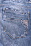 Textura do bolso de calças de ganga do fundo Fotografia de Stock Royalty Free