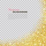 Textura do brilho do ouro com sparkles Imagem de Stock