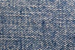 Textura do brim azul Foto de Stock Royalty Free