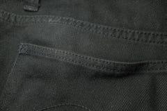 textura do brim preto Imagens de Stock Royalty Free