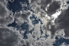 Textura do céu azul do fundo Fotos de Stock