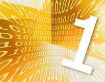 Textura do código binário Fotos de Stock Royalty Free
