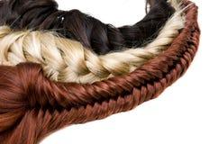 Textura do cabelo Fotos de Stock