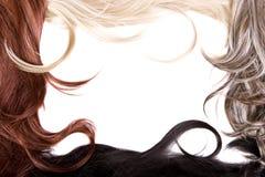 Textura do cabelo Fotos de Stock Royalty Free