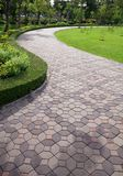 Textura do caminho de pedra no jardim Fotos de Stock