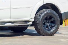 Textura do carro novo do recolhimento da aventura da roda Fotografia de Stock