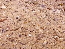 Textura do cascalho da areia Imagens de Stock