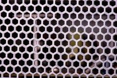 Textura do close up da grade do metal protetor para a proteção fotos de stock