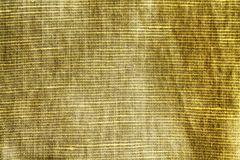 Textura do close-up de Autumn Maple, fundo de linho, nível de superfície do linho, amostra de folha da tela Fotografia de Stock Royalty Free