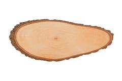Textura do close up de madeira isolada no fundo branco Fotografia de Stock