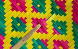 Textura do close up do fã da mão Imagens de Stock