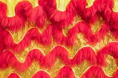 A textura do corpo chinês do ` s do leão comemora o ano novo chinês de chinês imagem de stock