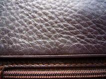 A textura do couro Couro de Brown Imagem de Stock